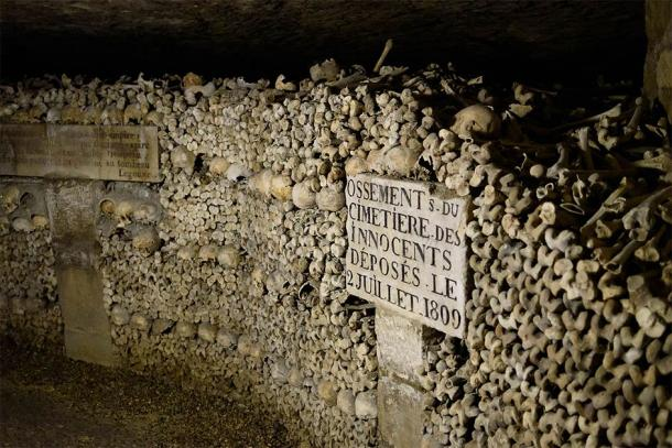 The Paris catacombs where Reign of Terror victims were supposedly interred. (Joe deSousa / CC0)