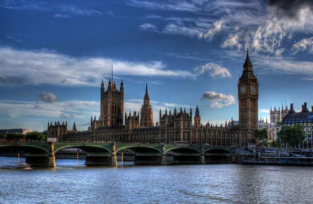 Parliament and Westminster Bridge.