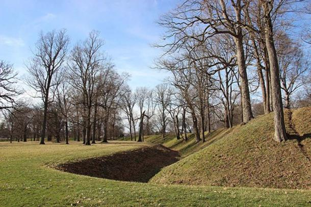 Part of a mound at the Newark Earthworks in Licking County. (Kevin Payravi/CC BY SA 4.0)