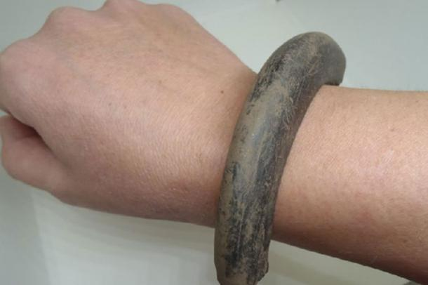 Part of the Bronze Age bangle found at Carnoustie. (GUARD Archaeology)
