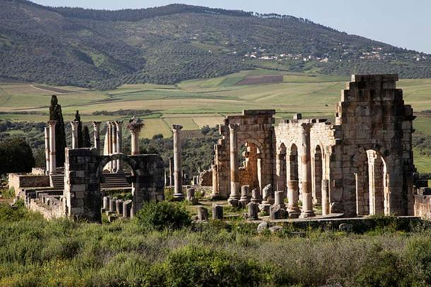 Part of the Volubilis ruins.