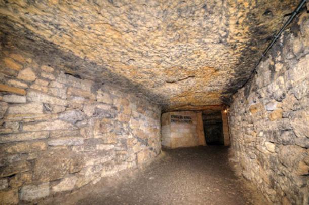 Part of the catacomb network, Odessa, Ukraine. (Artem Merzlenko /Adobe Stock)