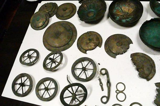 Part of the collection that was discovered in Lubuskie.