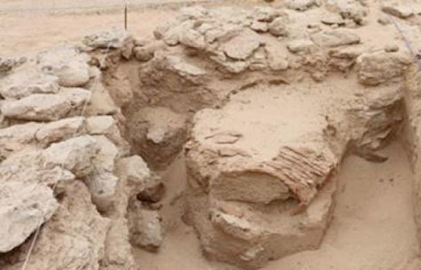 Part of the excavation site on Sir Bani Yas Credit: