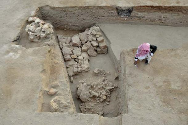 Part of the fortress discovered at Berenike along the Red Sea. Credit: S.E. Sidebotham / Cambridge University
