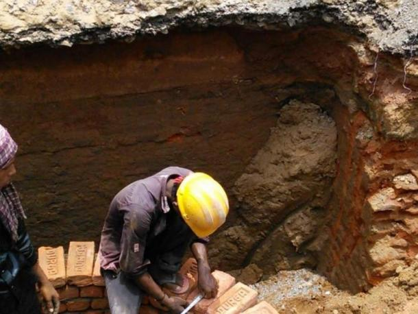 Part of the structure found 12 feet underground in Cuttack