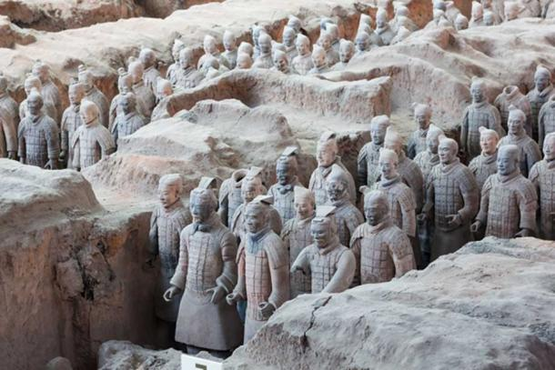 Part of the terracotta army of First Emperor Qin Shi Huang at Xi'an, China. (Adobe Stock)