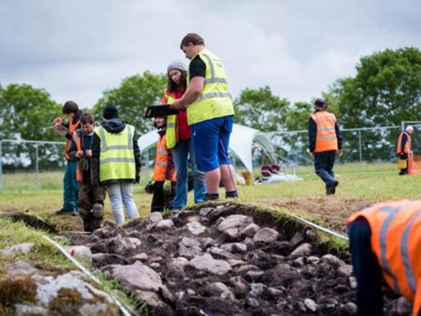 Part of the unusual structure discovered at Carrowmore Megalithic Cemetery. Credit: IT Sligo