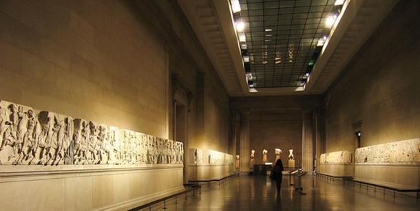 The Parthenon Marbles on display in the British Museum, London