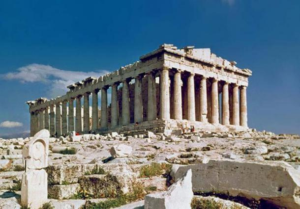 The Parthenon in Athens, Greece, from where the marble friezes were taken.
