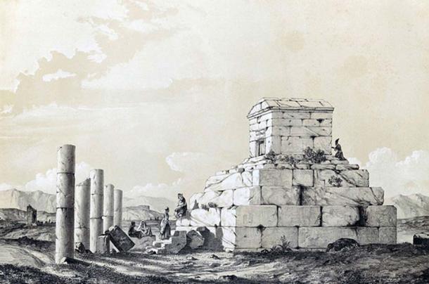 Pasargadae, by Eugène Flandin, 1840