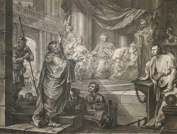 Paul before Felix, 1752. Drusilla of Judea is seated on Felix's right.