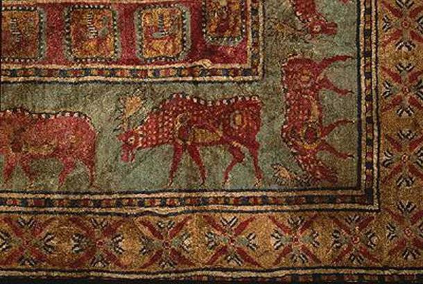Detail from the Pazyryk Carpet
