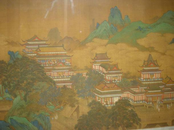 Peach Festival of the Queen Mother of the West, a Chinese Ming Dynasty painting from the early 17th century.
