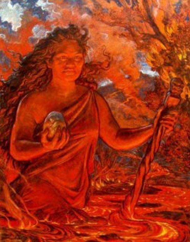 Pele the Fire Goddess of Hawaii.