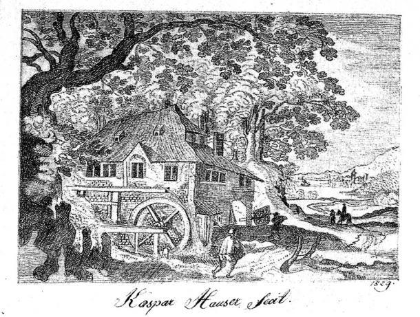 Pencil drawing by Kaspar Hauser, 1829.