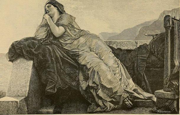 Penelope pining for Odysseus by Rudolf Friedrich von Deutsch (1888) (Public Domain)