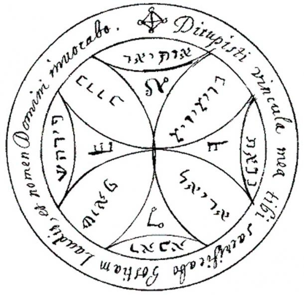 A magical symbol, the Seventh pentacle of the Sun in the 'Key of Solomon.' (Public Domain)