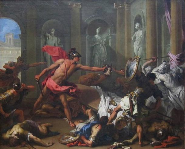 Perseus Confronting Phineus with the Head of Medusa by Sebastiano Ricci