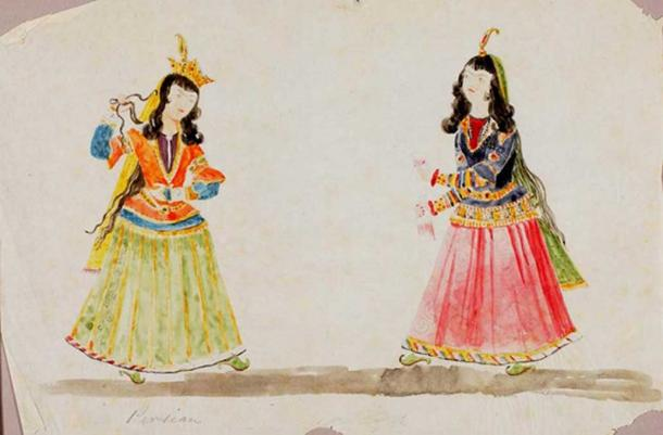 Persian Women. (Public Domain)