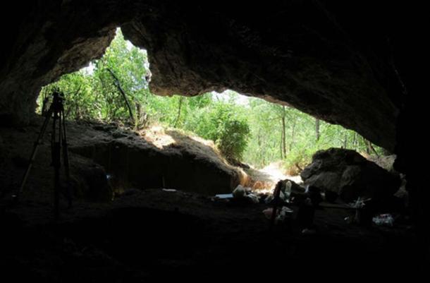 Pešturina Cave, where the Neanderthal tooth fossil was found. (Dušan Mihailović / Author provided)