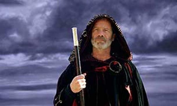 Peter Mullan as the wizard Michael Scot.