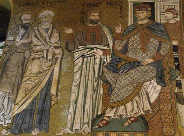 Peter, Paul, Simon Magus and Nero.