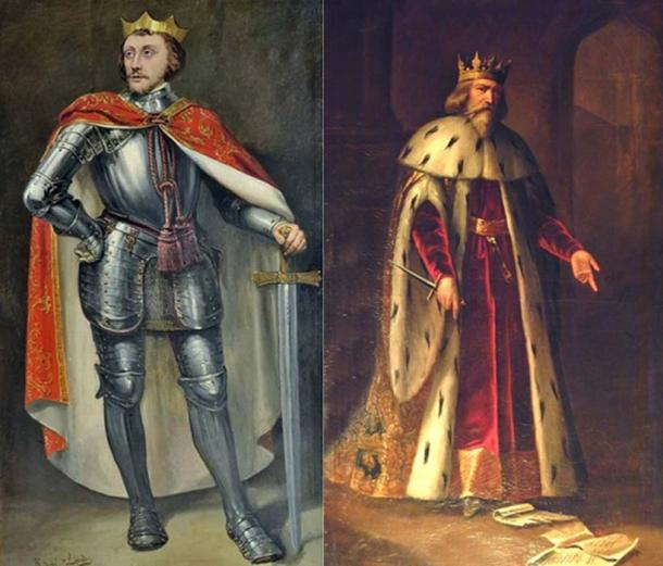 Left: Peter of Castile (Public Domain) Right: Peter IV of Aragon. (Public Domain)