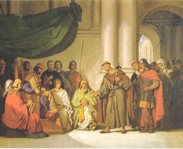 'Peter the Hermit and Alexius Comnenus.' (Public Domain)