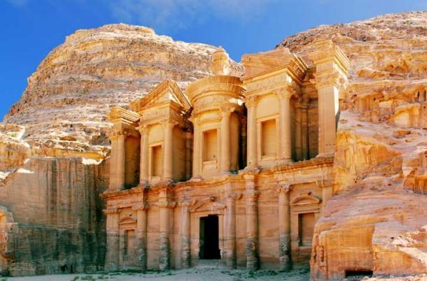 The magnificent site of Petra in Jordan.