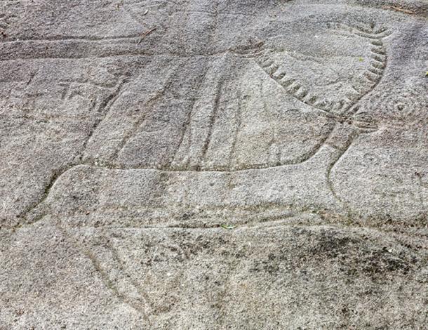 Petroglyph in Campo Lameiro.  Galicia, Spain.
