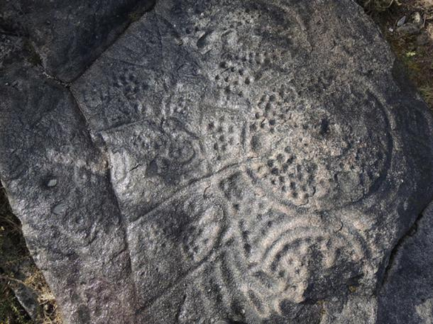 Petroglyph with circles and lines, Vigo, Spain