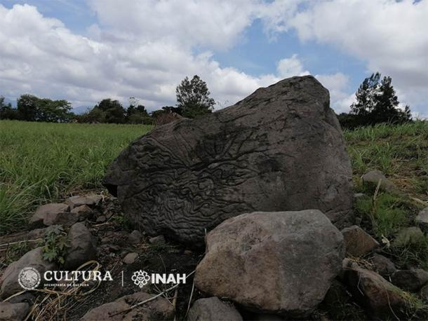 Petroglyph used as a 'stone-map' over two thousand years ago, in Colima. (Rafael Platas Ruiz / INAH-Colima)