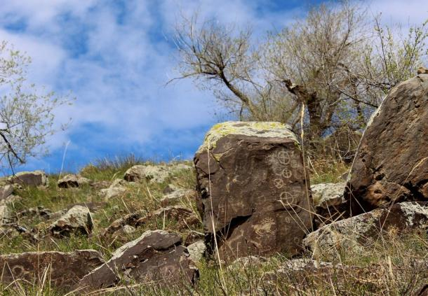 Petroglyphs have been found in other areas of Siberia, such as these at Mount Baga-Zarya, Buryatia