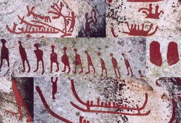 Petroglyphs, Häljesta, Vastmanland, Sweden