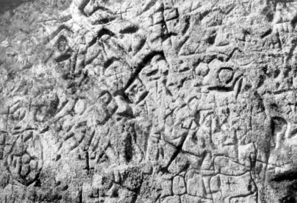 Discovered in 1986, the Virtaka Cliff petroglyphs in Latvia. (Guntis Eniņš/ Folklore)