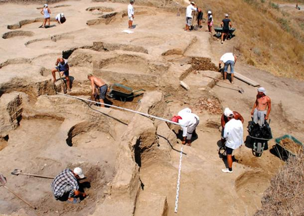 Excavations at the site in Phanagoria.