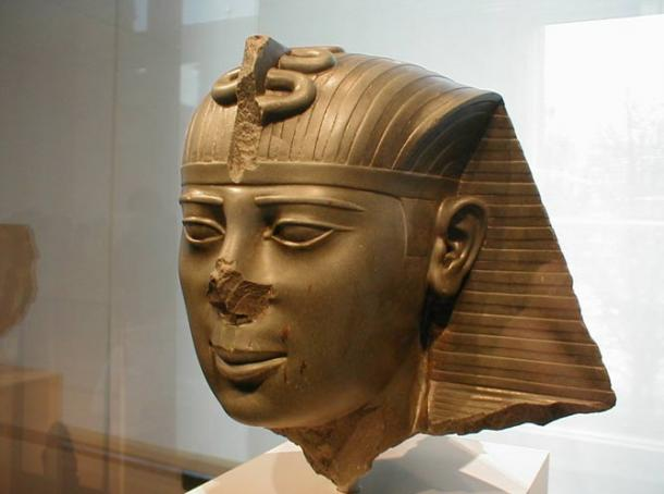 Head of a statue of Pharaoh Amasis