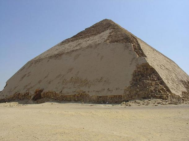 Pharaoh Sneferu's Bent Pyramid in Dahshur, Egypt.
