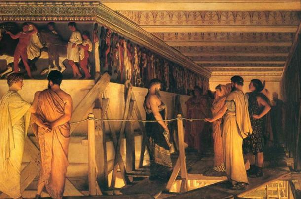 Phidias Showing the Frieze of the Parthenon to his Friends.
