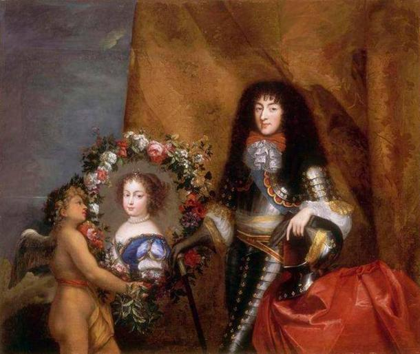 Philippe de France with his favorite daughter Marie Louise, Henrietta's and his first child.