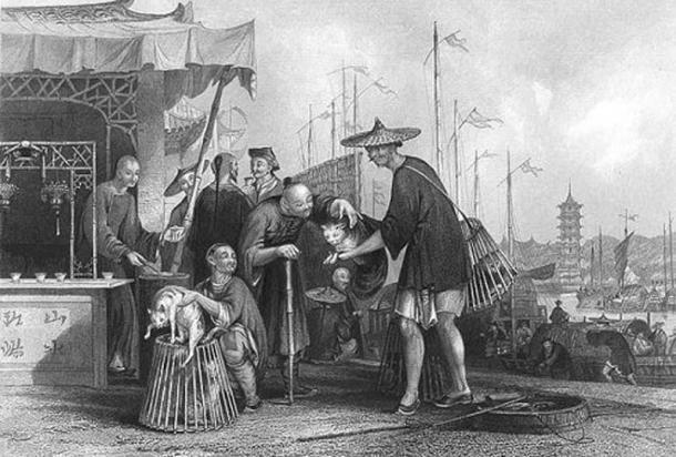 Philippian people trading goods.