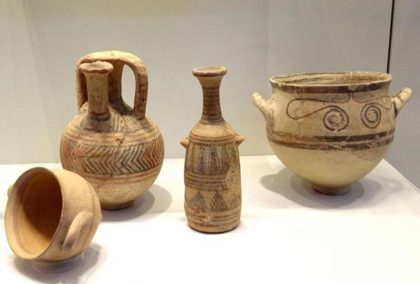 Examples of Philistine pottery.