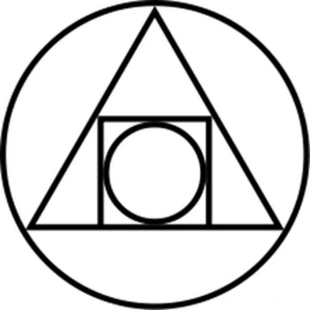 The Philosophers Stone was believed to be hidden somewhere in the arts of rebinding of the 4 elements of the creator. (Public Domain)
