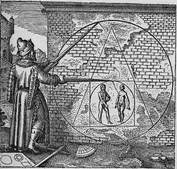Philosopher's stone as pictured in Atalanta Fugiens Emblem 21.