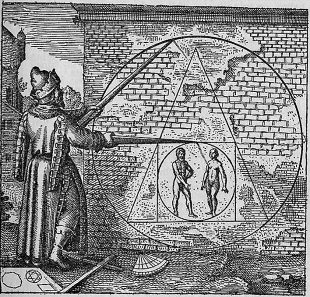 """""""Philosopher's stone"""" as pictured in Atalanta Fugiens Emblem 21. (1617)"""