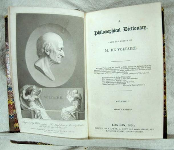 Voltaire; A Philosophical Dictionary. 2nd ed., London: Printed for J. and H.L. Hunt, 1824.