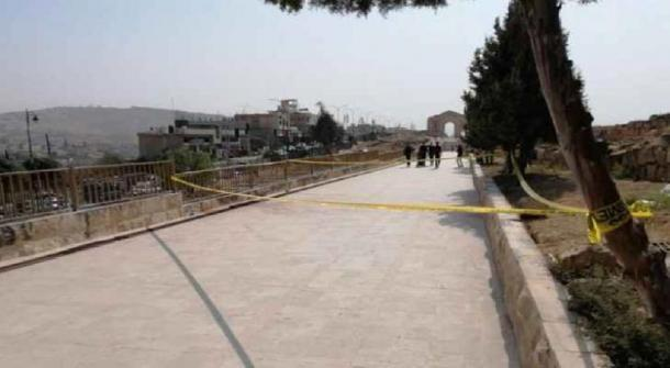 Photo from the scene of the incident. (Roya News)