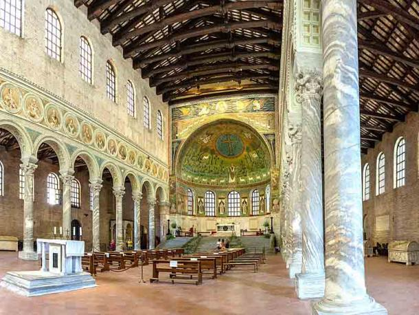 One of the most outstanding features that can still be seen today at Ravenna and Classe are the wonderful mosaics, such as in the Basilica di Sant'Apollinare in Classe, the ancient port of Ravenna. (Vanni Lazzari / CC BY-SA 4.0)