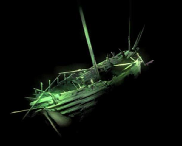 Photogrammetric model of the ship's stern. (MMT / University of Southampton)